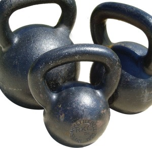 Kettlebells come in all sizes. For the Kettlebell swing, it's best to start with a lower weight and move up.