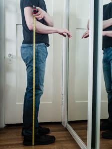 Measuring height for standing desk | DerekRalston.Com | Photo by Carla Gabriel Garcia